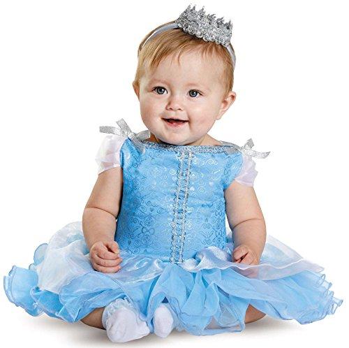 Disguise Baby Girls' Cinderella Prestige Infant Costume, Blue, 12-18 Months
