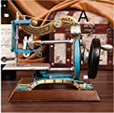 Retro European nostalgia model home sewing machine Iron crafts clothing store window props TA122613 ( Color : A )
