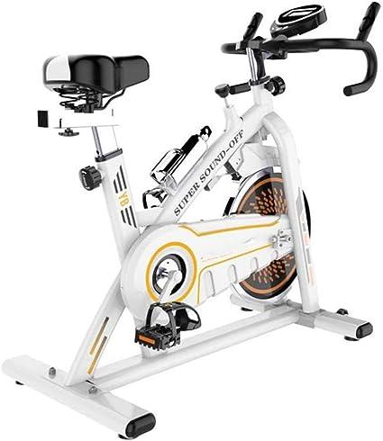 Bicicleta Estática de Fitness,Bicicleta Spinning Profesional con Monitor Multifuncional,Bicicleta Gimnasio Perder Peso con Sensores de Pulso en Manillar Resistencia Ajustable Manillar y Asiento: Amazon.es: Deportes y aire libre
