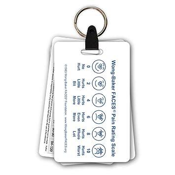 5 Card Pediatric Keychain Badge Pocket Card Reference Set for Nurse Medic