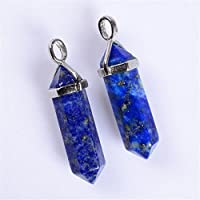 ERAWAN Natural Quartz Crystal Stone Point Chakra Healing Gemstone Pendant Necklace Gift EW sakcharn (#3)