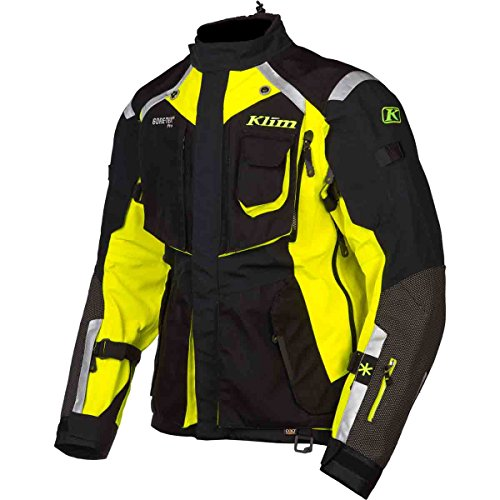 Mens Gore Tex Motorcycle Jacket - Klim Badlands Men's Dirt Bike Motorcycle Jacket - Hi-Vis / Large