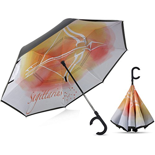 Broni Large Inverted Auto Umbrella | Sagittarius Zodiac