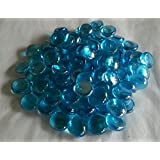 1kg(approx 230) Decorative Round Aqua Glass Pebbles..20mm