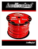 0 GA GAUGE PW-0 RED POWER GROUND WIRE CABLE AUDIOPIPE CAR AUDIO AMP 100FT SPOOL