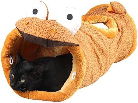 Huihuger - Túnel para Gatos, Forma de Dinosaurio, 1 Agujero en la ...