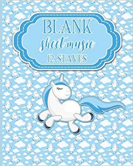 Blank Sheet Music - 12 Staves: Music Sheet Blank / Music