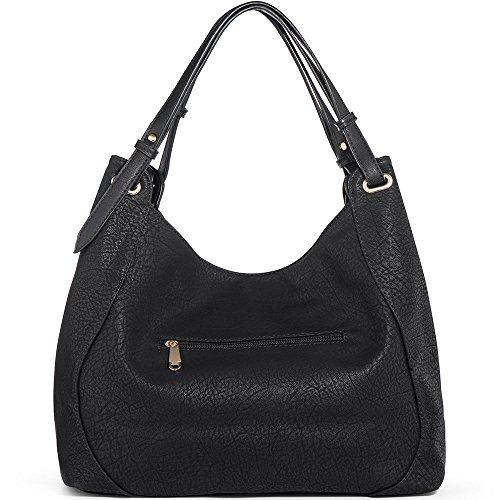 Hobo L Handbags 29cm Handbags Leather Large 16cm Women JOYSON 39cm PU W Black Bags Crossbody Satchel Shoulder H qxU5P6I