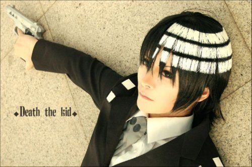 Soul Eater Death the Kid and Lord Death Mixed Color Party Hair Cosplay Wig
