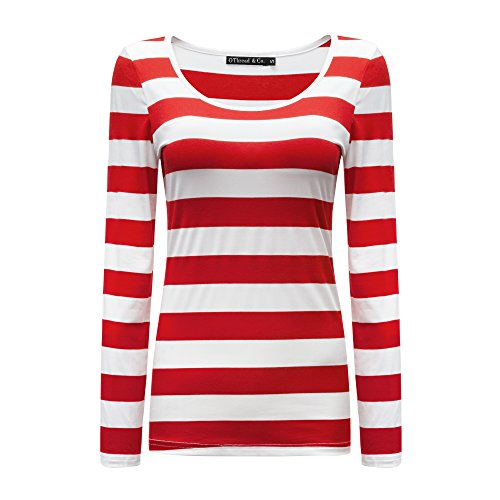 red and white striped shirt - 4
