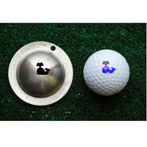 Cup Star Tin - Tin Cup Moby Golf Ball Marking Stencil, Steel