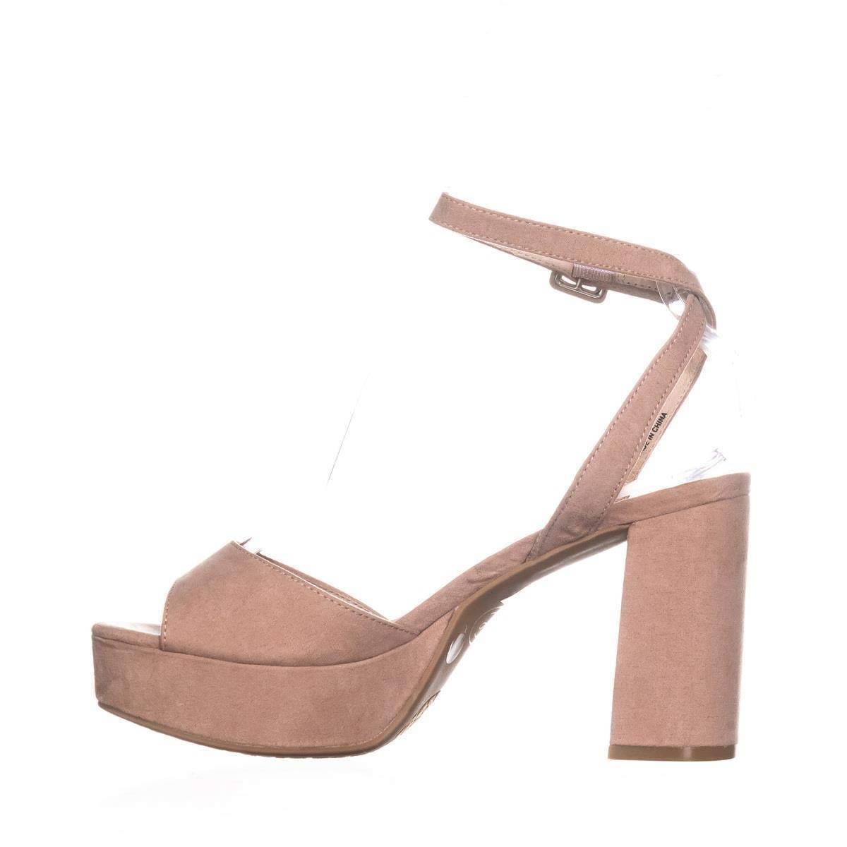 9809b72098 Amazon.com | Chinese Laundry Womens Trixi Open Toe Casual Ankle Strap  Sandals | Heeled Sandals