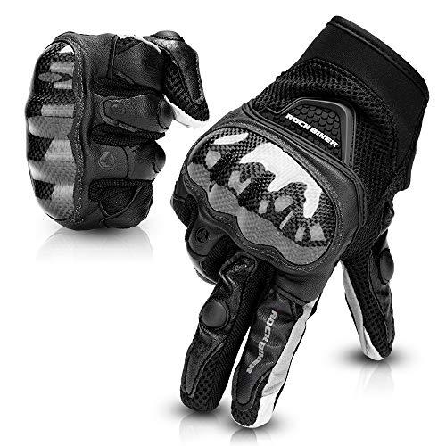 Kemimoto Motorcycle Gloves Men Women Riding Touchscreen Full Finger for Motorcross Motorbike Racing Gloves Dirt Bike ATV UTV Cycling Outdoor Gloves XL