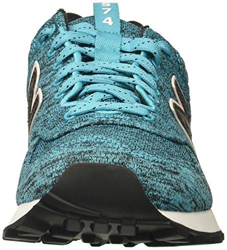 New Balance Womens 574v1 Sneaker Vivido Ozono Blu / Alba Glo