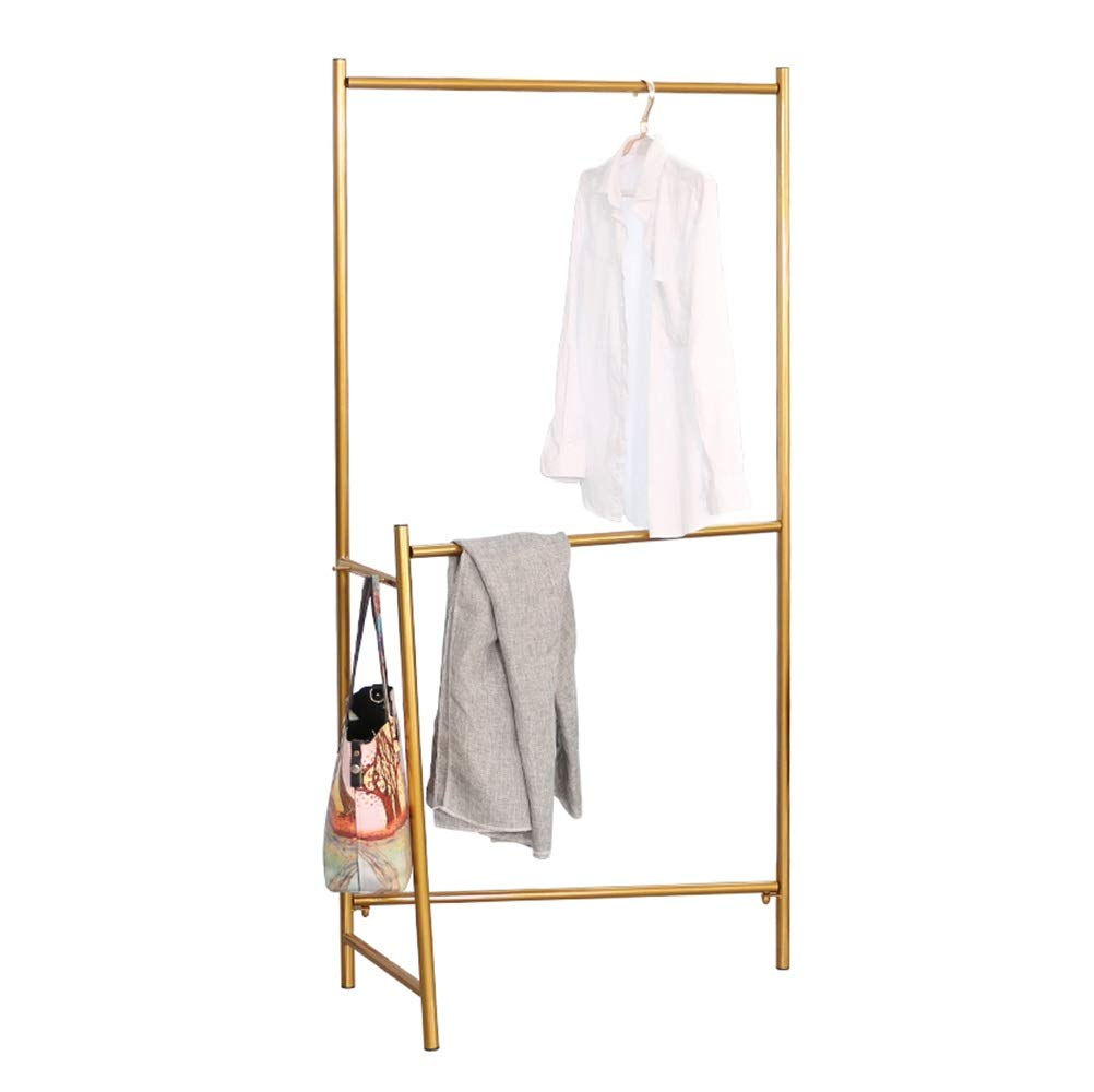 A WYQSZ Hanger Floor Bedroom Simple Metal Coat Rack Home Space Space Rack - Coat Rack 8563 (color   C)