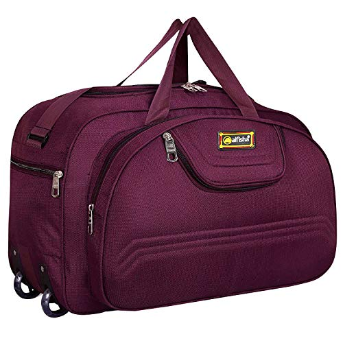 Alfisha Lightweight Durable Purple Polyester Duffel and Overnight Travel Bags