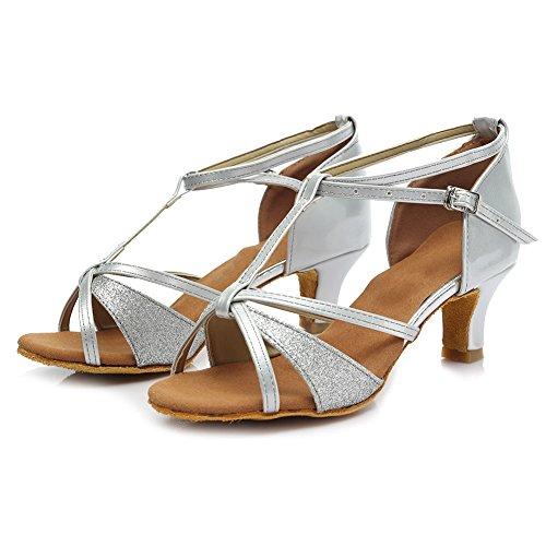 Tango 5cm Performance Roymall Silver 255 Salsa Ballroom Latin Dance Model Womens Shoes Shoes nFYwqPZYH