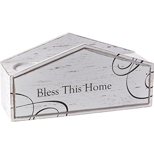 Precious Moments Bless This Home Rustic Farmhouse Distressed Wooden Pillar Candle Home Décor Display Box 173428 by Precious Moments