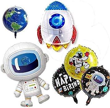 Amazon.com: Paquete de 8 globos de espacio exterior Astra ...