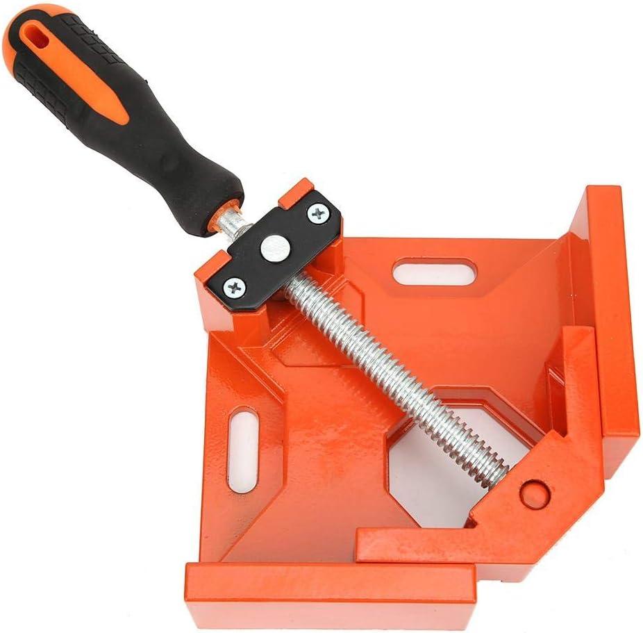 Orange Schwei/ßvorrichtung Winkelklammern 90-Grad-Eck-Einhand-Eckklemme aus Aluminiumlegierung f/ür die schnelle Holzbefestigung
