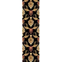 KAS Oriental Rugs Cambridge Collection Palazzo Runner, 22 x 711, Black