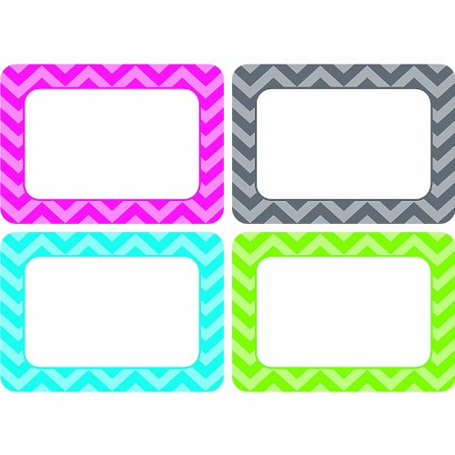 TEACHER CREATED RESOURCES CHEVRON NAME TAGS - MULTI PACK (Set of 24)