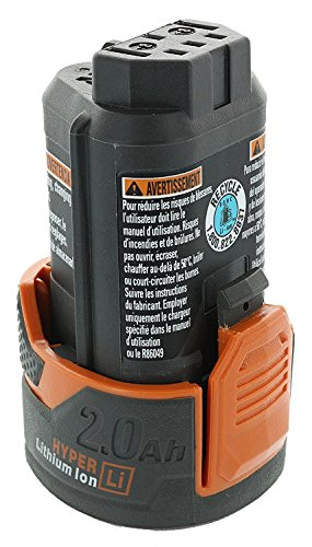 Ridgid AC82049 Genuine OEM Compact Hyper Lithium Ion 2.0 Amp Hour 12V Battery by Ridgid (Image #2)