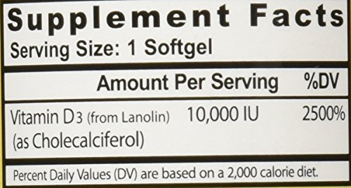 Healthy Origins Vitamin D3 10,000 IU (Non-GMO), 360 Softgels by Healthy Origins (Image #1)