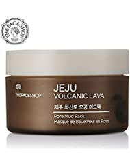 The Face Shop Jeju Volcanic Lava Pore Face Mud Mask For Blackhead Acne Minimizer (100 mL/3.3 Oz)