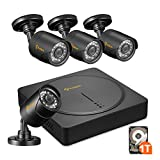 Anlapus 8-Channel HD-TVI 720P Surveillance Camera System, Security DVR Recorder with 1 TB Hard Drive and 4 x 720P 1280TVL Indoor Outdoor Waterproof CCTV Bullet Cameras with Night Vision