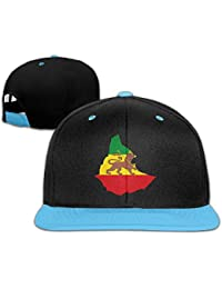 Flag Map Of Ethiopian Empire Adjustable Unisex Hip Hop Baseball Caps Stylish Snapback Hats For Toddler One Size