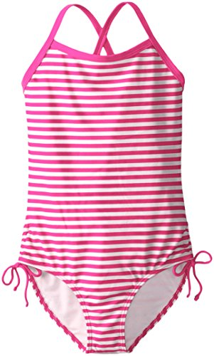 Kanu Surf Big Girls' Bali One Piece Swimsuit, Pink, 7