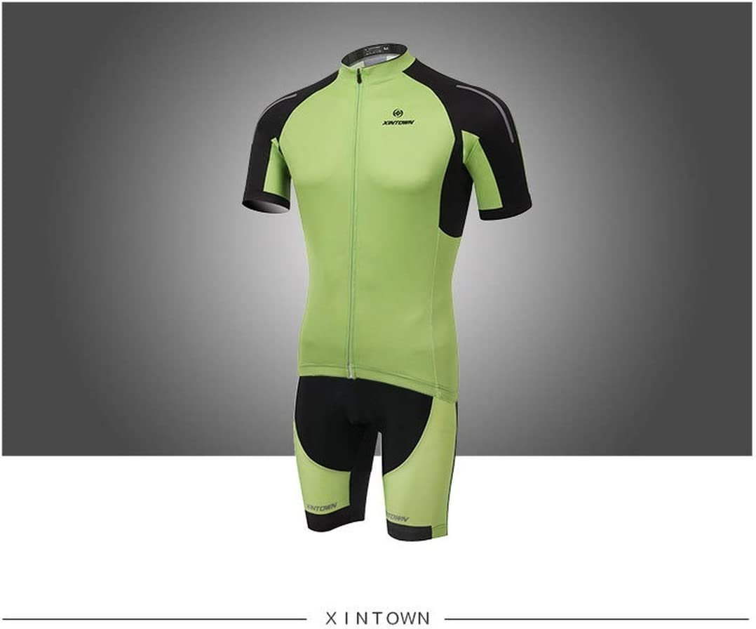XINTOWN Herren Fahrradtrikot Fahrradbekleidung M/änner Kurzarm Radtrikot Jersey mit Elastische Atmungsaktive Schnell Rote Sichel Outfit Feuchtigkeitstransport Atmungsaktiv Kleidung
