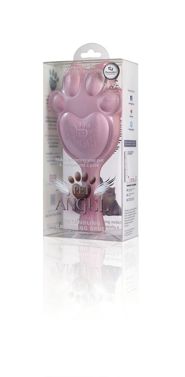 Pet Angel Pet Antibacterial Detangling Grooming Brush - Gently Detangles Dry, Wet, Or Matted Fur By