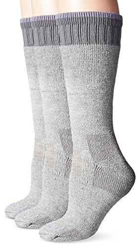(Carhartt Women's 3 Pack Heavyweight Merino Wool Blend Boot Socks, Heather Grey, Shoe Size: 9-12)