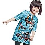 Little Girls Celebs Style Fashion A-Line Cartoon Owl Dress