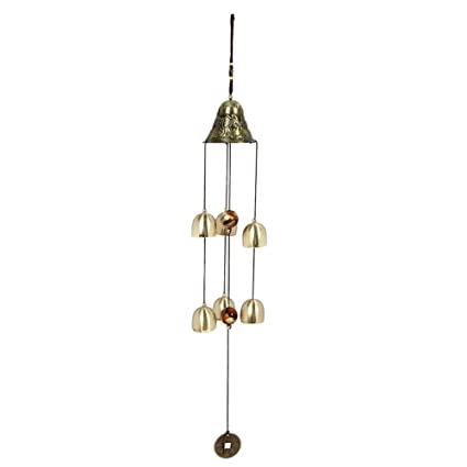 everpert vida al aire libre Patio Jardín 6 campanas de cobre decoración del hogar viento,