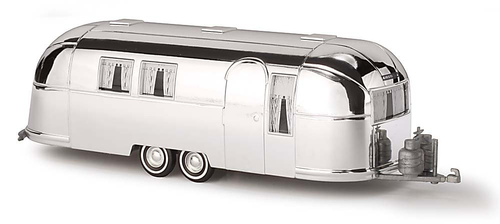 Busch 44982 Airstream Trailer 1958 Silver HO Scale Model