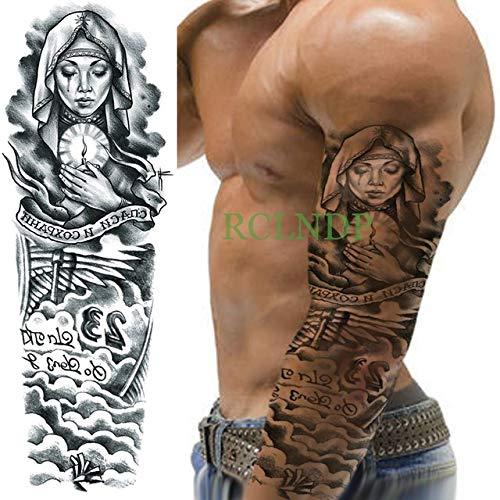 ljmljm 3pcs Tatuaje Impermeable Etiqueta la Cabeza del cráneo del ...