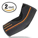 Lonew Elbow Brace Compression Sleeve - Elbow Sleeve Support for Workouts, Weightlifting, Arthritis, Tendonitis, Tennis and Golfer's Elbow,Reduce Joint Pain During ANY Activity
