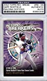 Gary Sheffield Autographed 2002 Topps Record Breakers Card #RB-GS Florida Marlins PSA/DNA #83893308