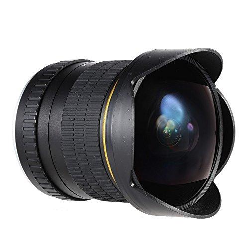 JINTU 8mm f/3.5 Professional Wide Angle Fisheye Lens for Nikon DSLR Camera D5600 D7100 D7200 D7500 D90 D3200 D3300 D5500 D5200 D5300 D5500 D3400 D750 D850 Full Frame APS-C Metal Warranty