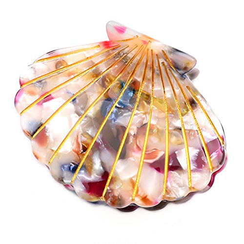 Acrylic Resin Claw Clips,1Pcs Jaw Clips Shell Hair Clips Hair Barrettes Headwear Hair Accessories for Women and Ladies,Flower Color