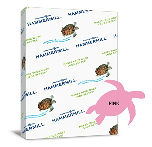 Hammermill Paper, Colors Pink, 20lb, 8.5x11, Letter, 500 She