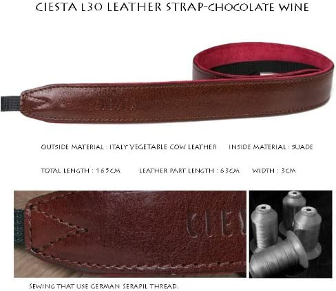 Chocolate Wine Ciesta CSS-L30-A08 Leather Camera Strap L30 for DSLR Compact Mirrorless Camera