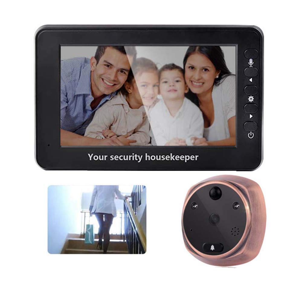 Love of Life 4.3'' TFT LCD Screen Digital Intercom Peephole Door Viewer Camera PIR Motion Detection Doorbell 160 Degree Wide Angle IR Night Vision Door Viewer Security Camera