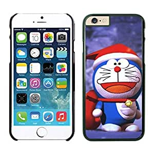 Personalized Design Christmas Doraemon Wear Red Hat Case Cover For Apple Iphone 6 4.7 Inch