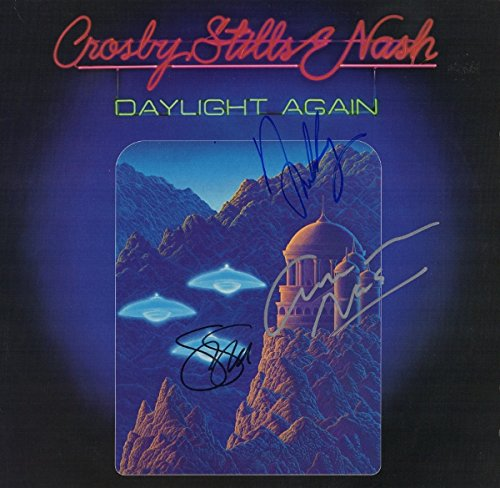 Crosby, Stills & Nash Autographed - Hand Signed DAYLIGHT AGAIN LP Record Album Cover - CSN David Crosby, Stephen...