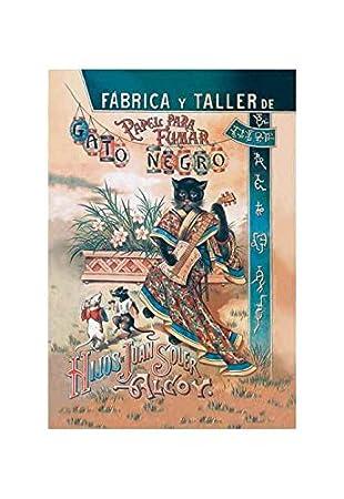 Amazon.com: Buyenlarge Papel para Fumar: Gato Negro Print ...