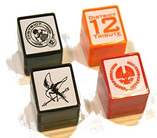 Hunger Games Square Stamp Set of 4